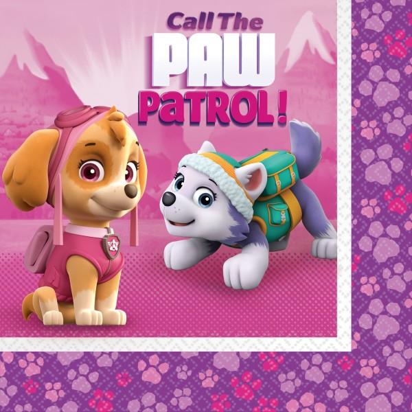 20 serviettes Paw Patrol Girls 33 cm