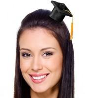 Miniatur Graduiertenhut mit Haarklammer