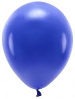 100 Eco Pastell Ballons royalblau 30cm