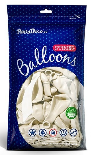 10 party star metallic balloons white 30cm