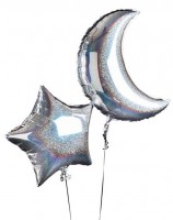 Holografische Night Sky Folienballons