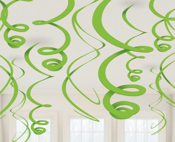 Stilvolle Wirbel Hängedekoration Fiesta Kiwi Grün 12-Teilig 1