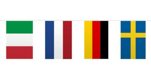 Europa Fahnen Wimpelkette 10m