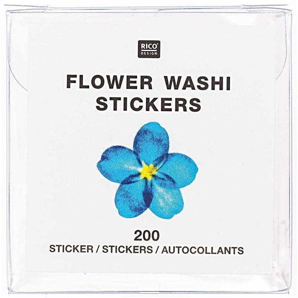 Blaues Blüten FSC Washi Tape