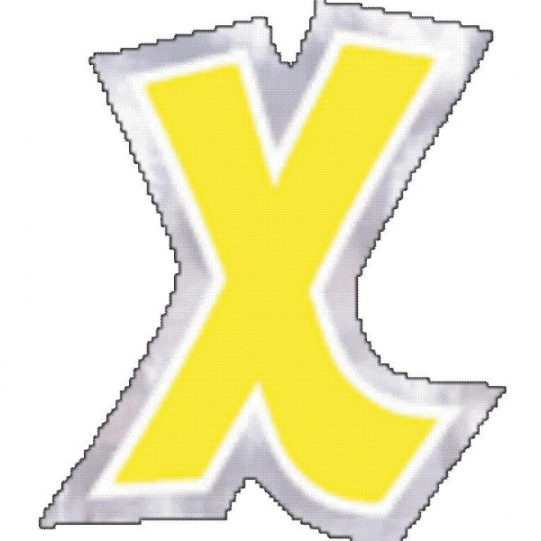 48 balloon stickers letter X