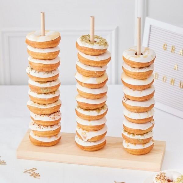 Wedding in gold donut stacker 38 x 37cm