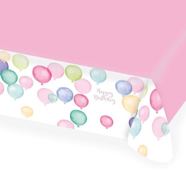 Pastel birthday tablecloth 1.5 x 1.15m