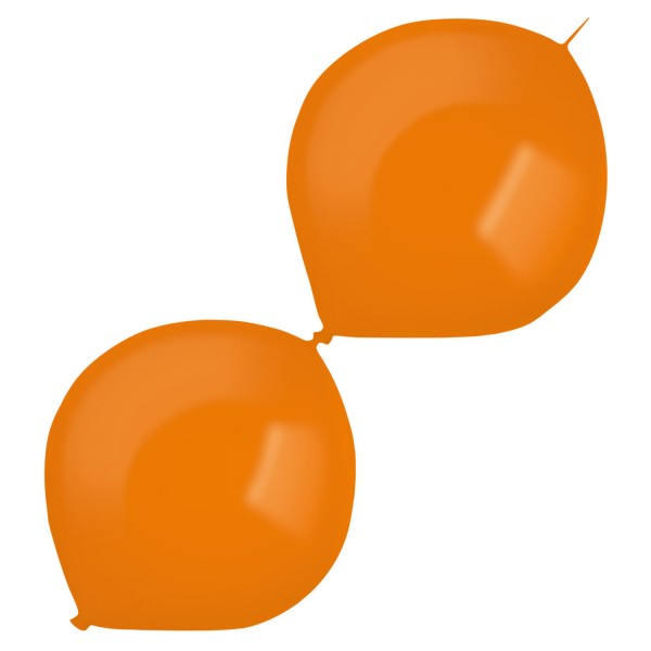 50 Girlandenballons orange 30cm