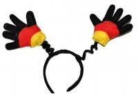 Haarreifen mit Deutschlandhänden