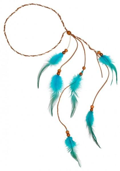 Feder Stirnband türkis
