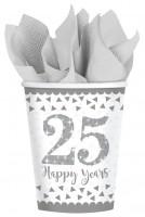 8 Sparkling 25 Years Pappbecher 266ml