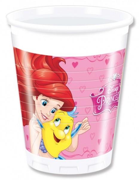 8 gobelets en plastique de princesses de contes de fées enchantées 200 ml