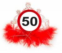 Verkehrsschild 50 Geburtstagskrone