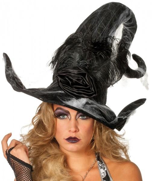 Pompöser Hexen Hut Schwarz