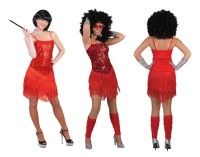 Rotes Flapper Party Kleid