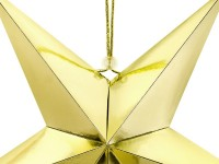 Do it yourself Dekostern aus metallisch-goldener Pappe 45cm