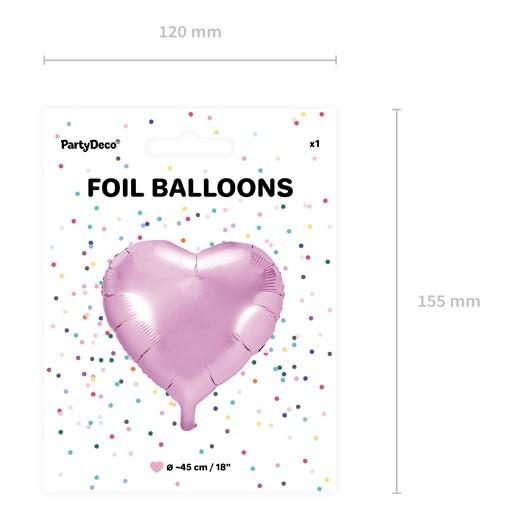 Palloncino a cuore rosa 45cm