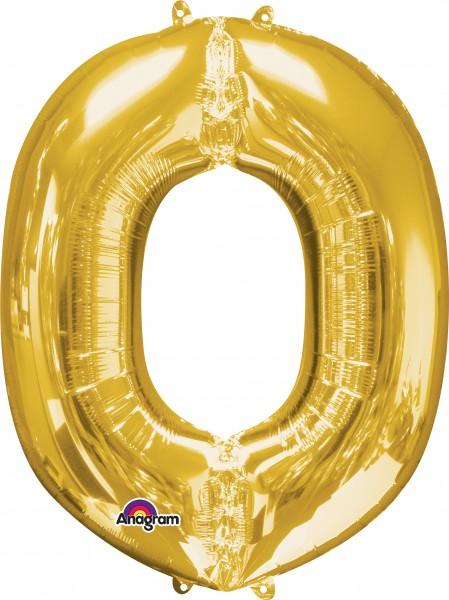 Lettre ballon aluminium O or 83cm