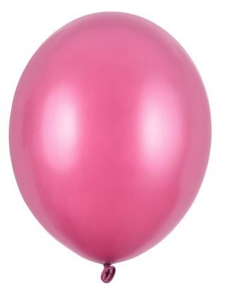 100 metalowych balonów Partystar różowy 12 cm