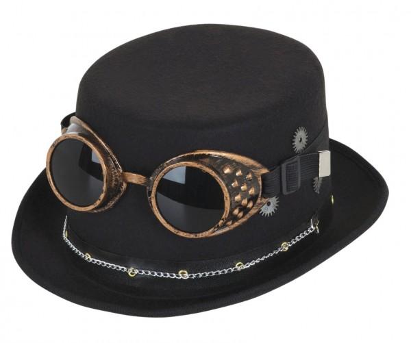 Futuristischer Steampunk Zylinder Mit Brille