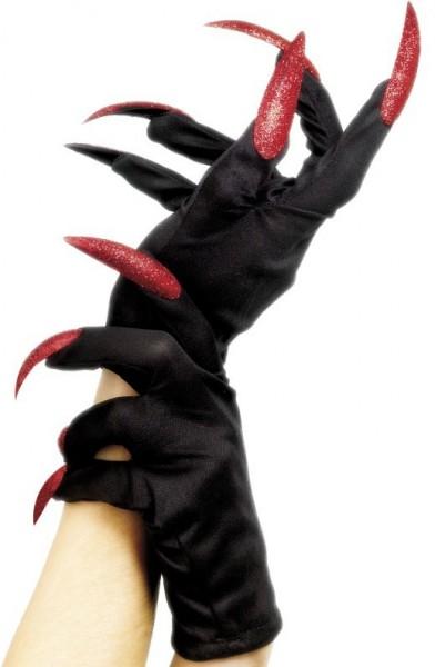 Höllenlady Handschuhe mit Krallen