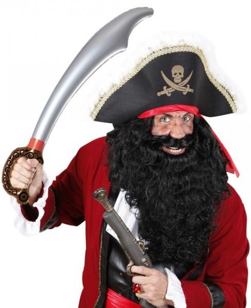 Épée de pirate en argent gonflable
