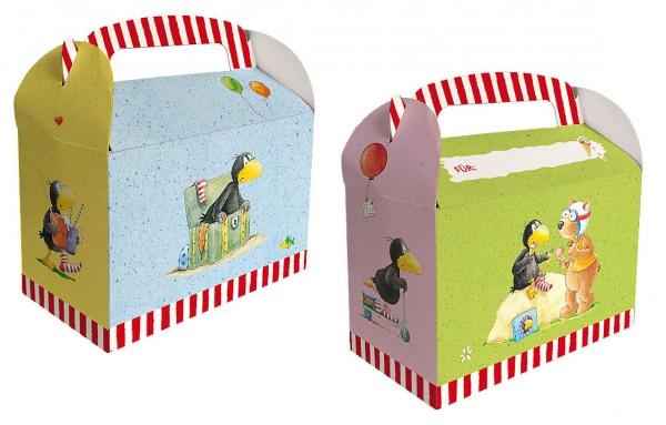 6 little raven sock gift boxes