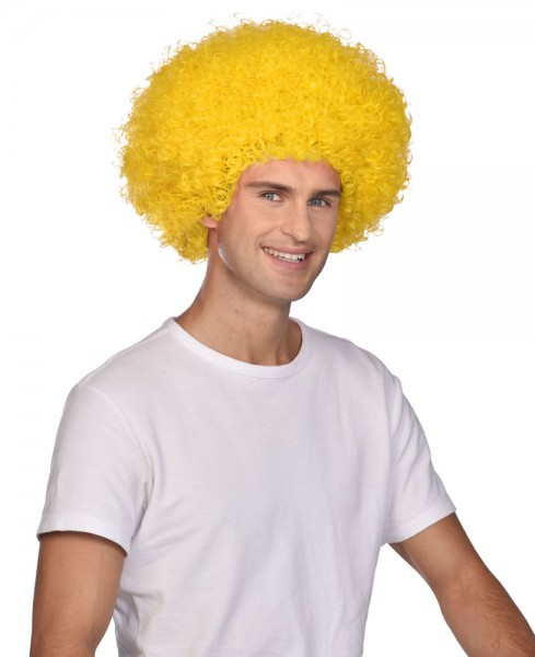Perruque Afro Carnival jaune