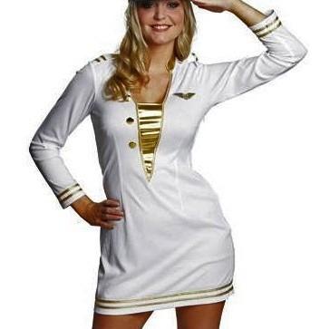 Sexy Pilotin Damenkleid