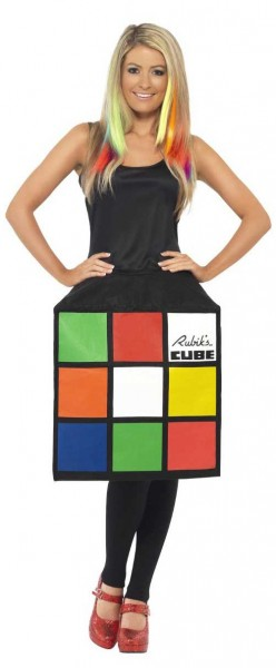 Rubik Zauberwürfel Damenkostüm 3D