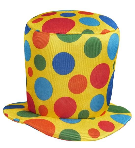Gigantische cilinder clown hoed