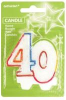 40.Geburtstag Tortenkerze Colourful Birthday Party
