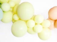 10 Partystar Luftballons pastellgelb 30cm