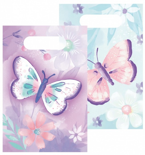 8 Schmetterling Garten Geschenktüten