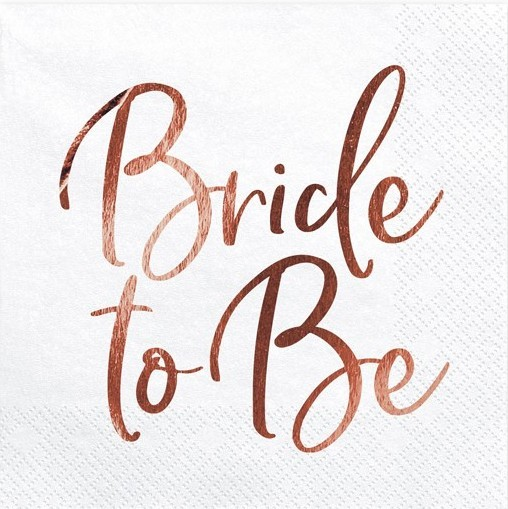 20 Serviettes Bride to Be 33cm