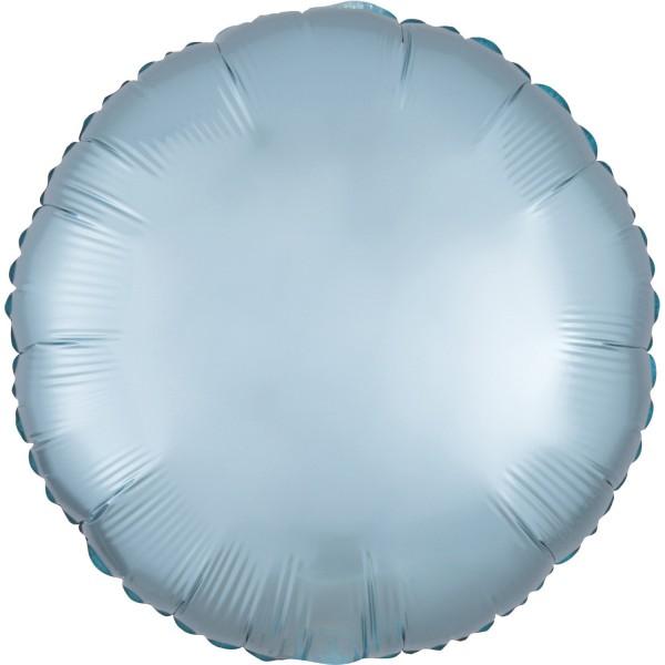 Ballon aluminium satiné bleu glace 43cm
