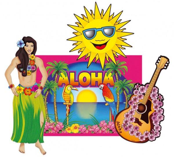 Beach Party Hawaii Deko Set Partyde