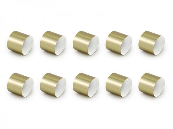 10 paper napkin rings matt gold DIY