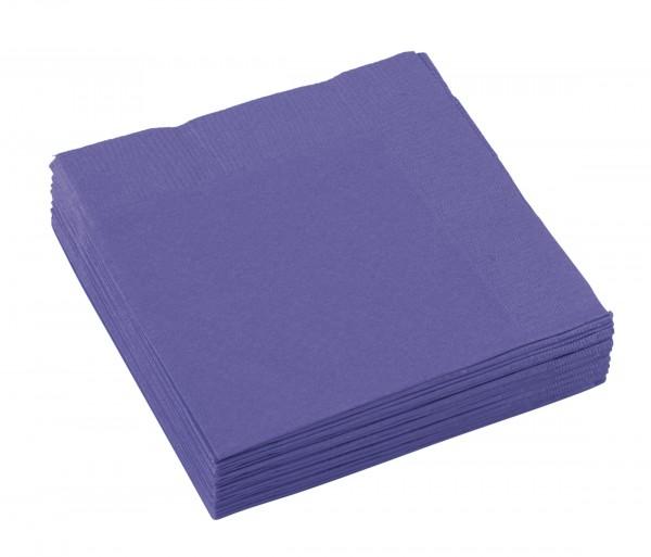 20 servilletas Mila violeta 25 x 25cm