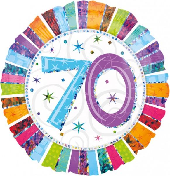 Colourful 70th Birthday Ballon 45cm