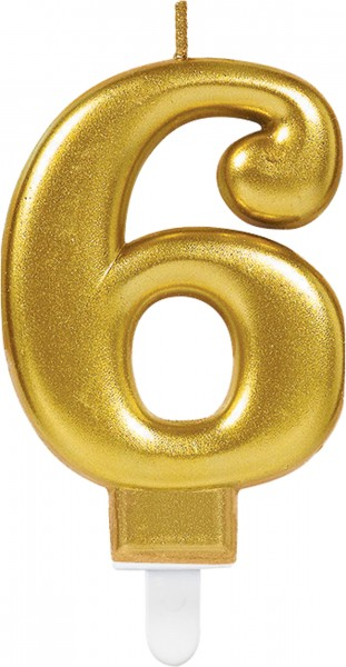 Golden number candle 6