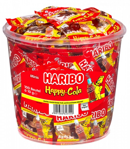 100 Beutel Haribo Happy Cola 10g