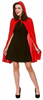 Rotes Kapuzencape Alice für Damen