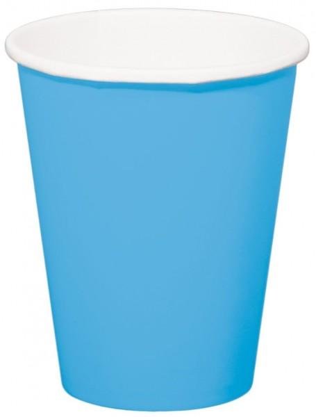 8 kopper Cleo havblå 350ml