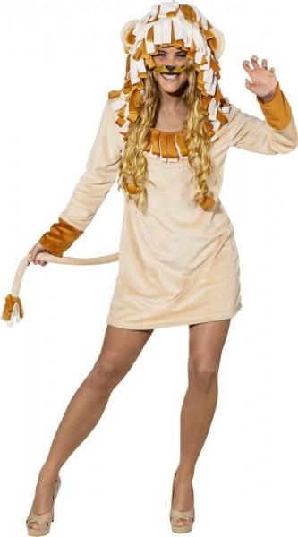 Löwinnenkleid Mit Kapuze Für Damen