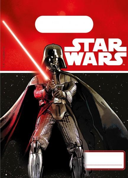 4 Star Wars Lichtschwert Geschenktüten