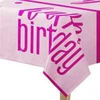 Sparkling Pink Birthday Tischdecke 1,37 x 2,1m