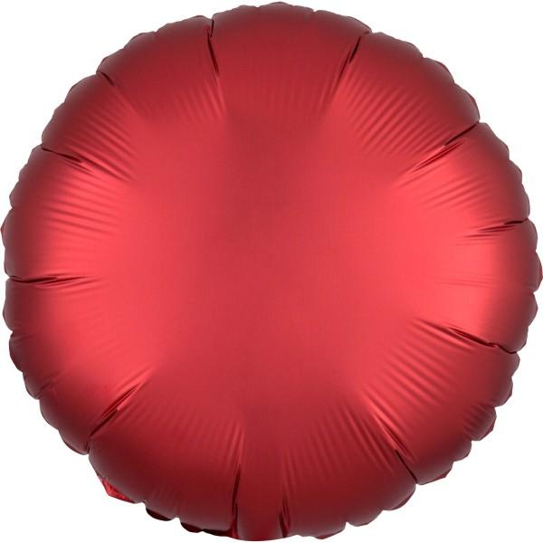 Globo de lámina de satén noble rojo rubí 43cm