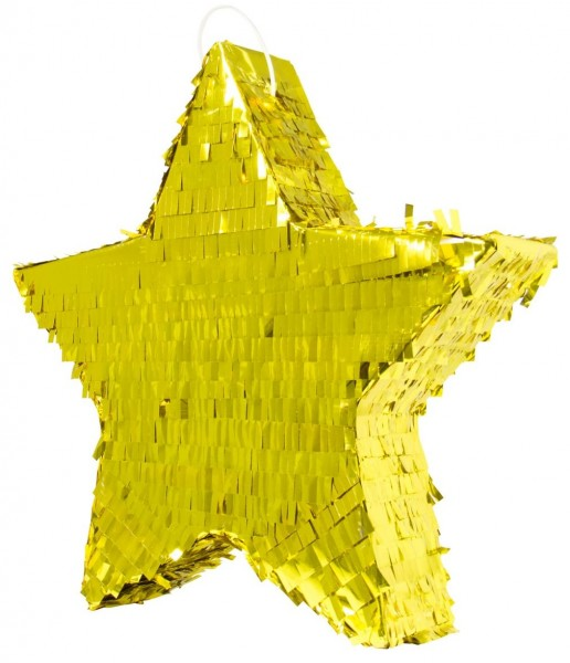 Piñata estrella dorada 45cm