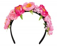 Inseltraum Blumenhaarreif Pink